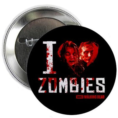 "I Heart Zombies 2.25"" Button"