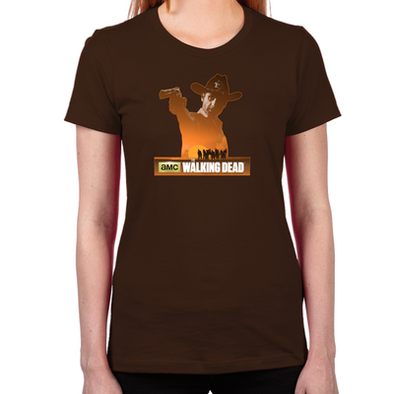 Rick Grimes Sheriff Women's Fitted T-Shirt