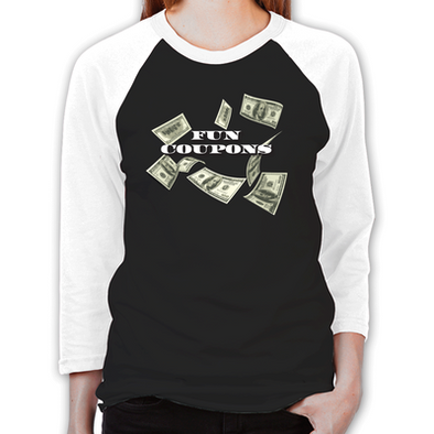 Wolf of Wall Street Fun Coupons Women's Baseball T-Shirt