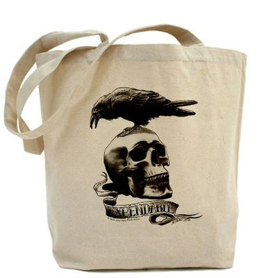 Skull Tattoo Tote Bag