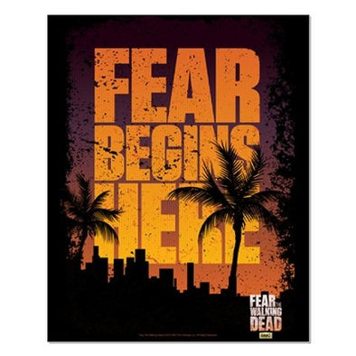 Fear The Walking Dead Begins Here Poster