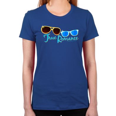 Retro Sunglasses Women's Fitted T-Shirt