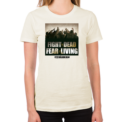 Fight the Dead, Fear the Living Women's Fitted T-Shirt