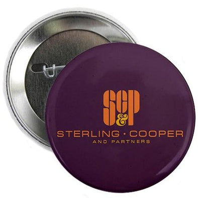 "SC and P Mad Men Logo 2.25"" Button"