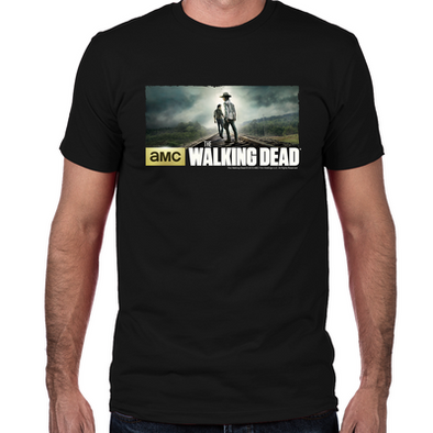 Carl and Rick Grimes Don't Look Back Fitted T-Shirt