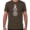 Keep Calm and Find Twoo Wuv Fitted T-Shirt