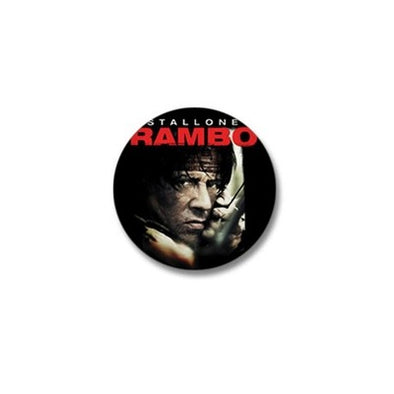 Rambo Close Up Mini Button