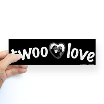 Twoo Love Bumper Sticker