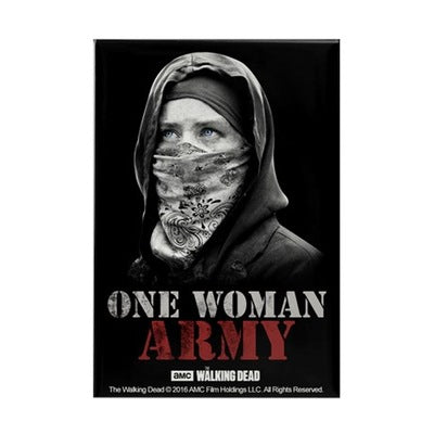 One Woman Army Rectangle Magnet