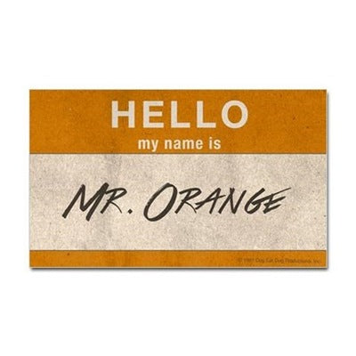 Hello Mr. Orange Sticker