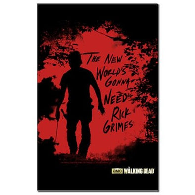 Rick Grimes World Mini Poster Print