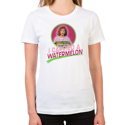 02c02c868 Dirty Dancing I Carried a Watermelon Women's Fitted T-Shirt – Gold Label