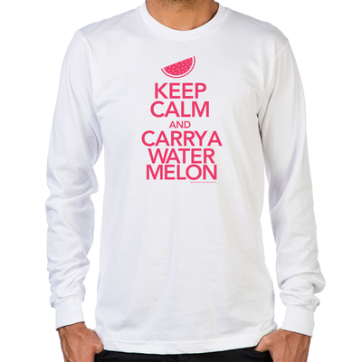 Keep Calm and Carry a Watermelon Long Sleeve T-Shirt