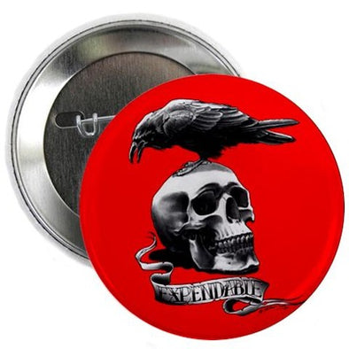 "Skull Tattoo 2.25"" Button"