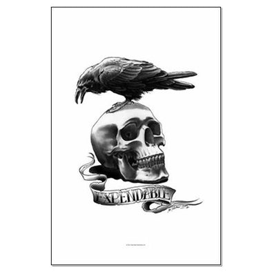 Skull Tattoo Large Poster