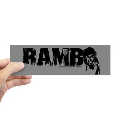 R is for Rambo Bumper Sticker