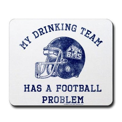 Blue Mountain State Drinking Team Mousepad