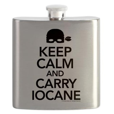 Keep Calm and Carry Iocane Flask