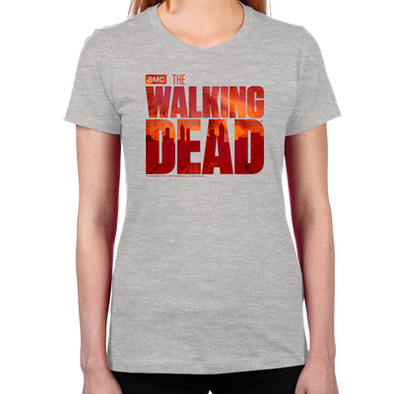 The Walking Dead Blood Logo Women's Fitted T-Shirt
