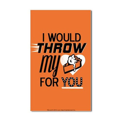 Throw My Pie for You Sticker