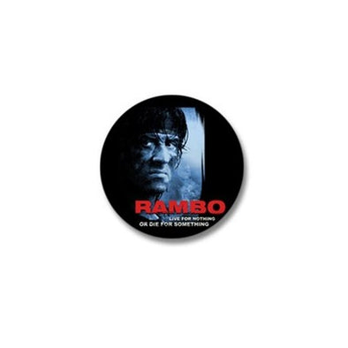 Rambo Die For Something Mini Button