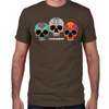 Three Skulls Men's Fitted T-Shirts