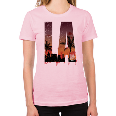 Fear the Walking Dead LA Women's Fitted T-Shirt