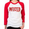 FTWD Infected Women's Baseball T-Shirt