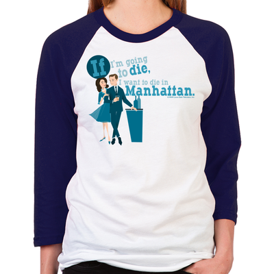 Mad Men Pete Campbell Women's Baseball T-Shirt