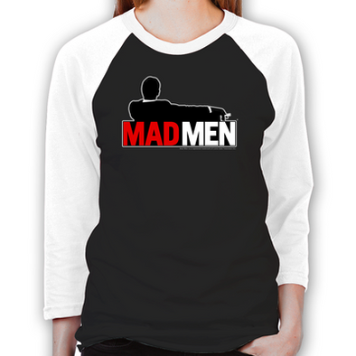 Mad Men Truth Lies Women's Baseball T-Shirt