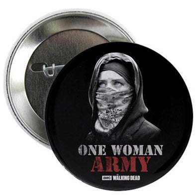 One Woman Army Button