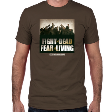 Fight the Dead, Fear the Living Fitted T-Shirt