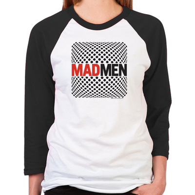 Mad Men Pop Art Women's Baseball T-Shirt