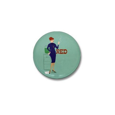 Mad Men Red Mini Button