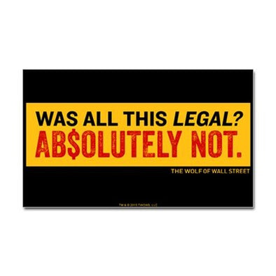 Wolf Of Wall Street Was It Legal? Sticker
