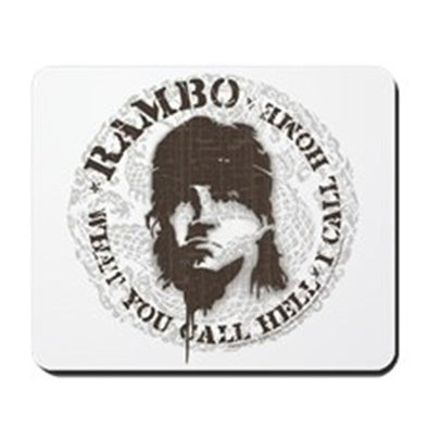 Rambo Call This Hell Mousepad