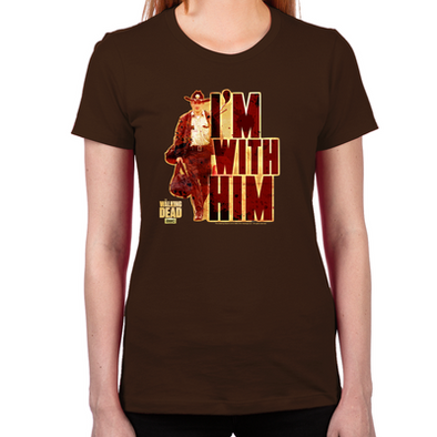 Rick Grimes I'm With Him Women's Fitted T-Shirt
