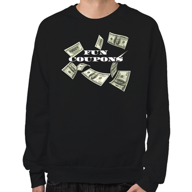 Wolf of Wall Street Fun Coupons Sweatshirt