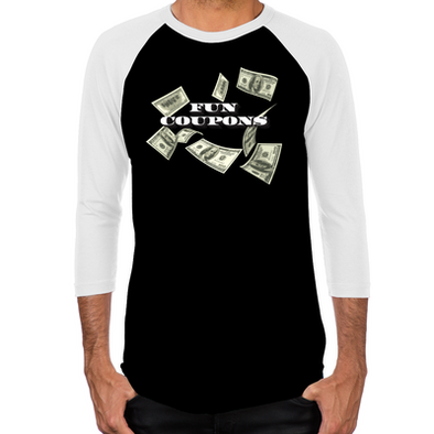 Wolf of Wall Street Fun Coupons Men's Baseball T-Shirt