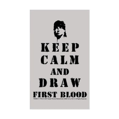 Keep Calm Rambo Sticker
