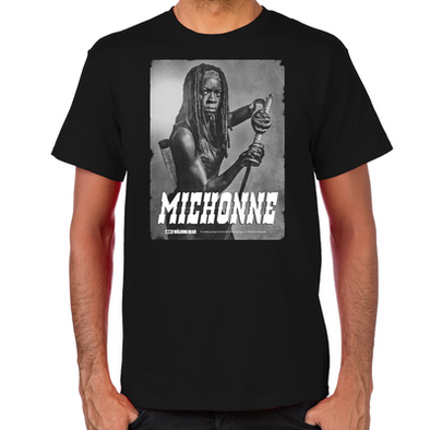 Michonne Silver Portrait Men's T-Shirt