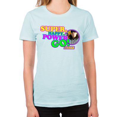 Super Happy Power Go Women's Fitted T-Shirt