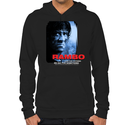 Rambo Die for Something Hoodie