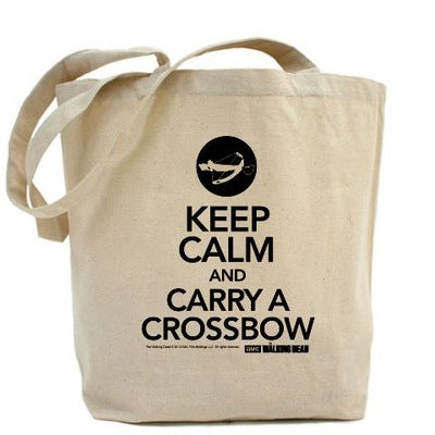 Keep Calm and Carry a Crossbow Tote Bag