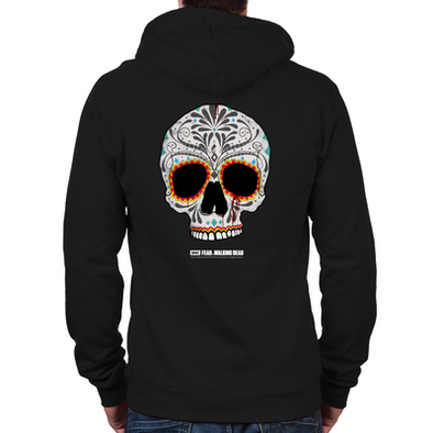 Day of the Dead Skull Zip Hoodie