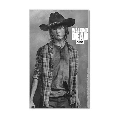 Carl Grimes Silver Portrait Sticker