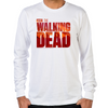 The Walking Dead Blood Logo Long Sleeve T-Shirt