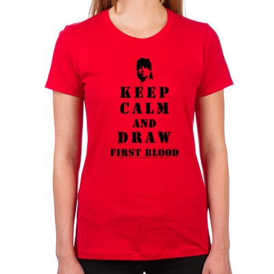 Keep Calm Rambo Women's Fitted T-Shirts