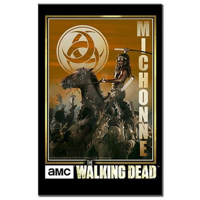 Michonne Zombie Slayer Mini Poster Print