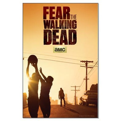 Fear The Walking Dead Basketball Poster